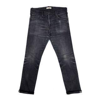 Uniqlo Selvedge Slim Fit Straight Black Fadding Wash