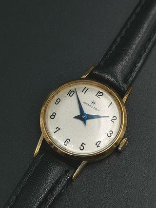 古董Hamilton 9k 實金 手上弦女裝手錶