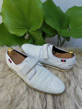 f0dc0ab80 Authentic Gucci White Leather Velcro Mens Sneakers Size 8.5 aslo fits 9