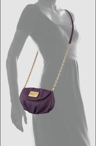 Authentic MARC by Marc Jacobs Classic Q Karlie Crossbody Bag, Purple