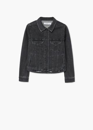 Mango black dark denim jacket (brand new w tag)