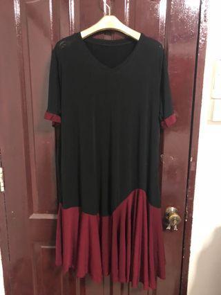 BN Black Red Dress Stretchable UK18 UK20