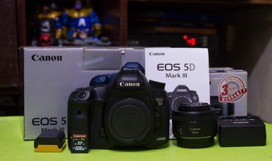 Canon 5d Mark III with Canon 50mm f1.8 STM lens