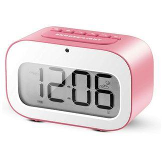 -1222-Alarm Clock, LED Emoji Travel Alarm Clock / Smart Desk Clock / Candy-Colored Digital Clock for Kids Battery Operated (Pink)  3ChatMake Offer