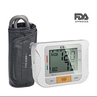 (1182) Upper Arm Blood Pressure Monitor with Digital Blood Pressure Cuff That Fits Large Arms - Large LCD Display - Highly Accurate and Lightning Fast