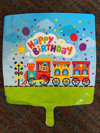 America Balloon: Toot toot train Happy Birthday Balloon