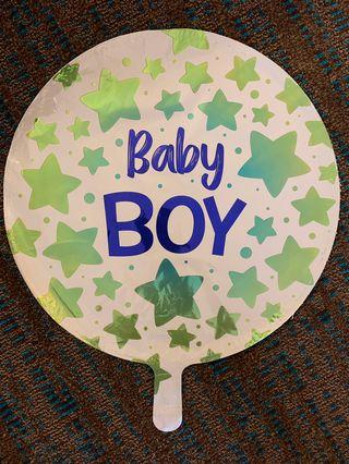America Balloon: Baby boy / girl star print balloon