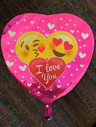 America balloon: I love you emoji balloon