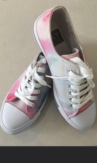 Art: Painted Print Sneakers