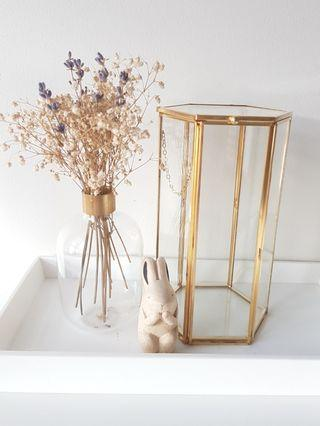 Gold geometric terrarium/ring boxes