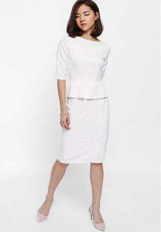 Love Bonito Melges Peplum Midi Dress