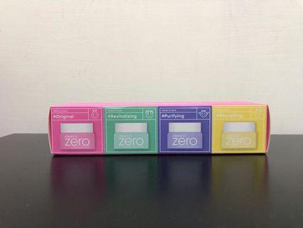 🚚 Zero零感肌瞬卸凝霜 經典/清新/敏弱肌/保濕 各7ml一組
