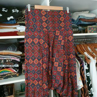 Ishka low crotch boho hippy pants