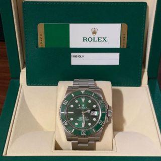 "Rolex Submariner Date 116610LV Ceramic Green ""Hulk"""