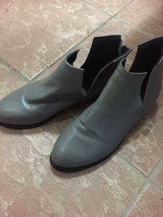 Woman leather shoes and casual shoes