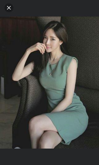 Sleeveless OL Dress