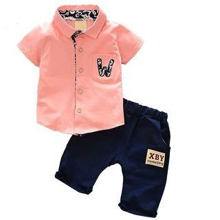 🚚 Pink TOP and navy pants size 90/52