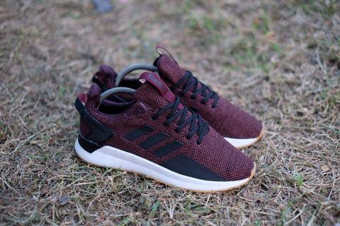Sepatu Adidas questar ride maroon ORIGINAL NEW 42, 43, 44
