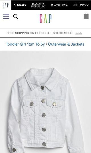 Baby GAP toddler icon denim jacket 5 years old brand new