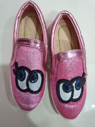 Girls Cartoon eye Shoes