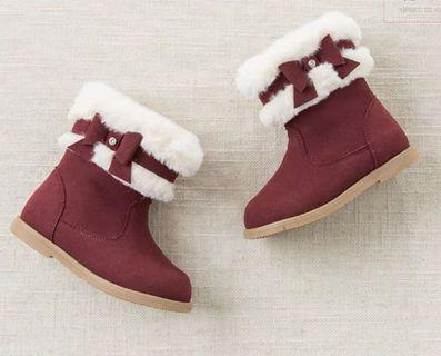 Boots shoes girl 女童靴 15cm red