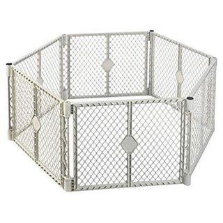 North States Superyard indoor-outdoor 6-Panel play yard