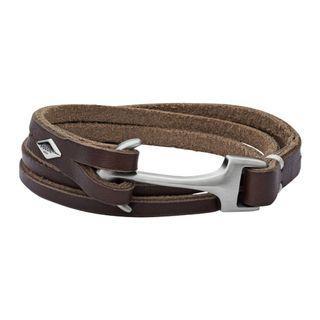 Fossil名牌男士手帶手鍊Men's Casual Bracelet JF02205040真皮Genuine Leather