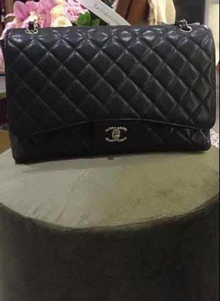 CHEAP FAST SALE CHANEL MAXI CAVIAR in black