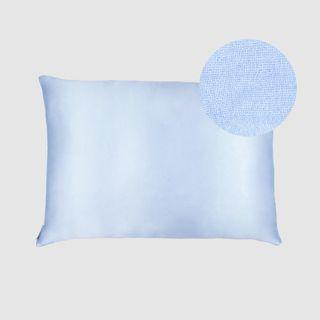 Shhh Silk Mulberry Silk + Microfibre Pillowcase - Baby Blue