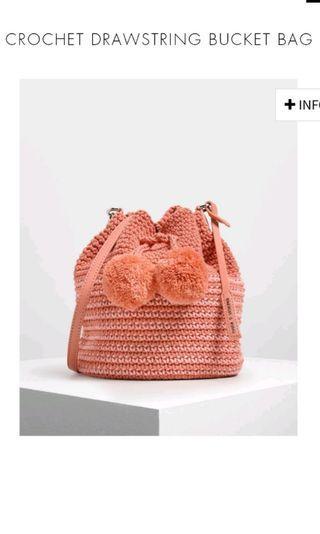 🚚 Kitted pink sweet drawstring bag