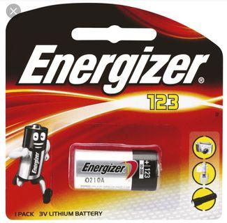 Energizer 123 Lithium Photo Battery 3粒