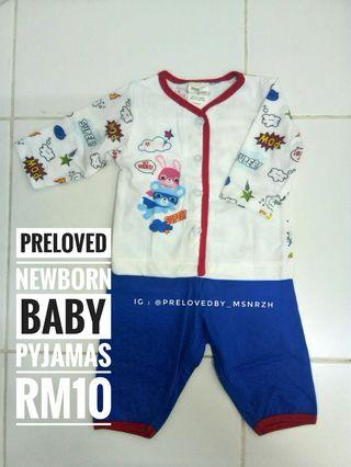 Preloved Newborn Baby Pyjamas