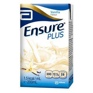 Carton (27 packets) Ensure Plus Vanilla 200ml