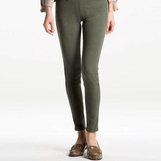 uniqlo army green jeggings