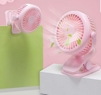1600mAh Clip on Portable USB Fan (PINK only)