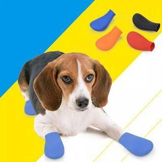 Sepatu Boots Karet Anjing - Biru Size L