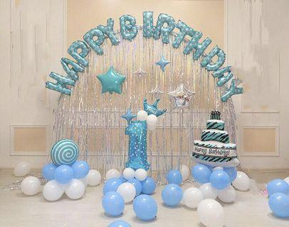 Balloon arch 1 year old happy birthday baby