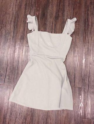 Gray Ruffle Summer Dress
