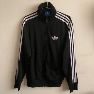 Adidas 愛迪達基本款三葉草黑白三條運動外套