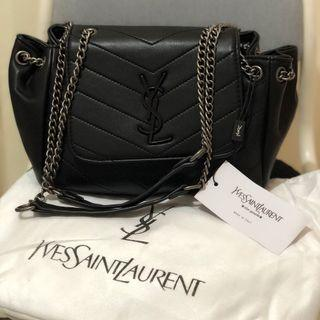 Semi Authentic YSL Nolita Chain Bag Small Shoulder Bag black / Saint Laurent mirror quality