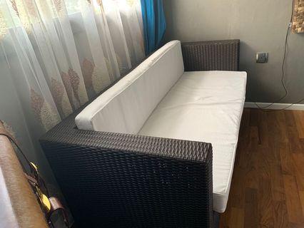 Outdoor/indoor 3 seaters Sofa