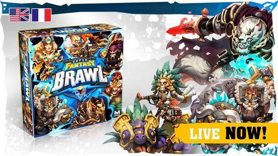 Super Fantasy Brawl boardgame mythic games