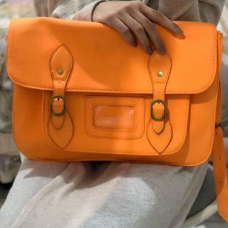 Preloved Typo Australia Satchel Crossbody Bag Orange 100% Original