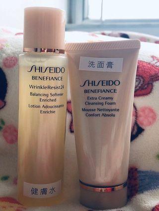Shisedo Benefiance 系列 洗面膏加健膚水