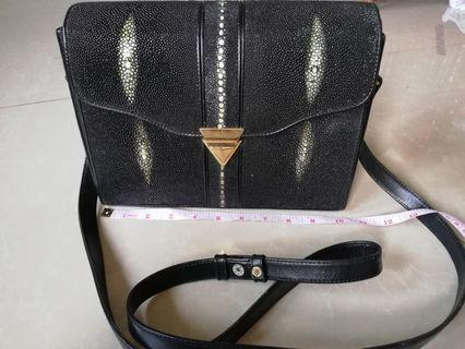 Authentic Sting ray sling flap bag