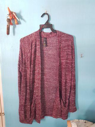 Cotton On Maroon Burgundy knitted Cardigan