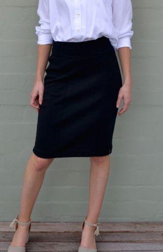 Black Formal Office Skirt