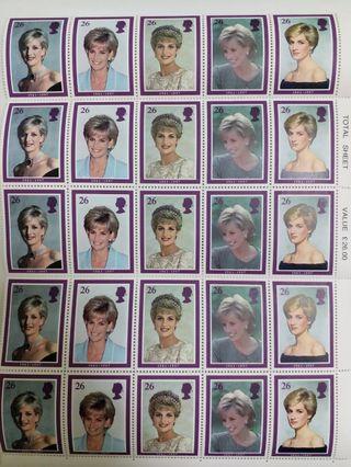 英國前王妃戴安娜紀念郵票