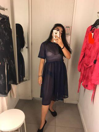 H&m see thru dress