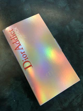 Dior Addict Hydra-Gel Core Mirror Shine Lipstick sample card